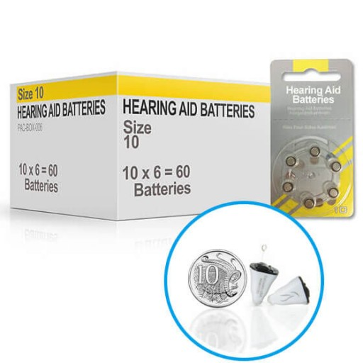 Hearing Aid Batteries for AIR® Hearing Aid - Size 10 (60 pcs)