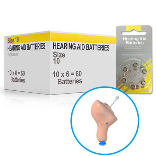 Hearing Aid Batteries for AIR800® Hearing Aid - Size 10 (60 pcs)