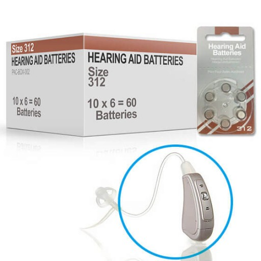 Hearing Aid Batteries for CRYSTAL® Hearing Aid - Size 312 (60 pcs)