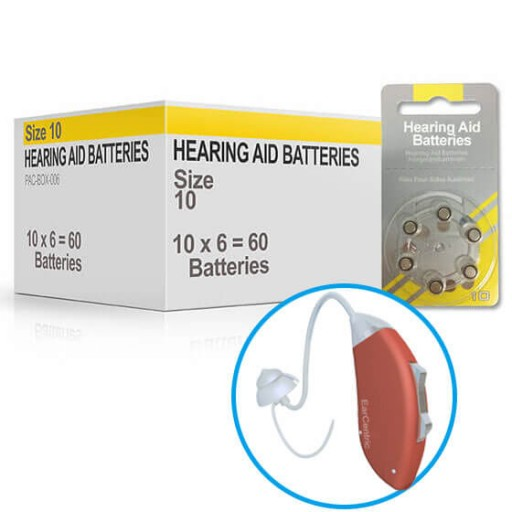 Hearing Aid Batteries for HARMONY® Hearing Aid - Size 10 (60 pcs)