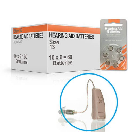 Hearing Aid Batteries for SYMPHONY® Hearing Aid - Size 13 (60 pcs)