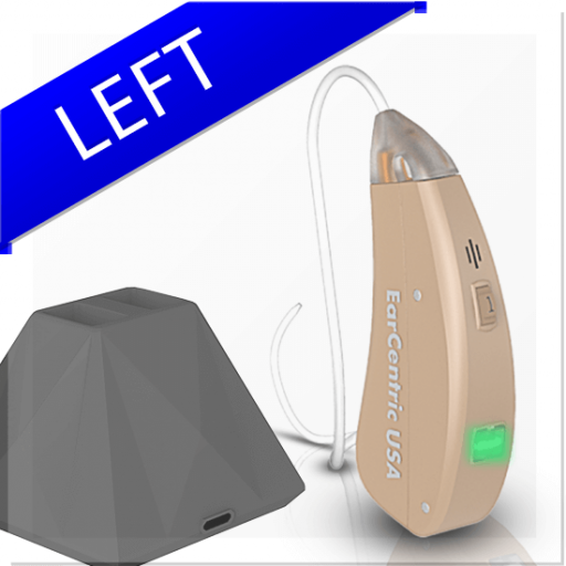 EasyCharge2 Rechargeable Hearing Aids High Pitch Hearing Loss - Left Ear
