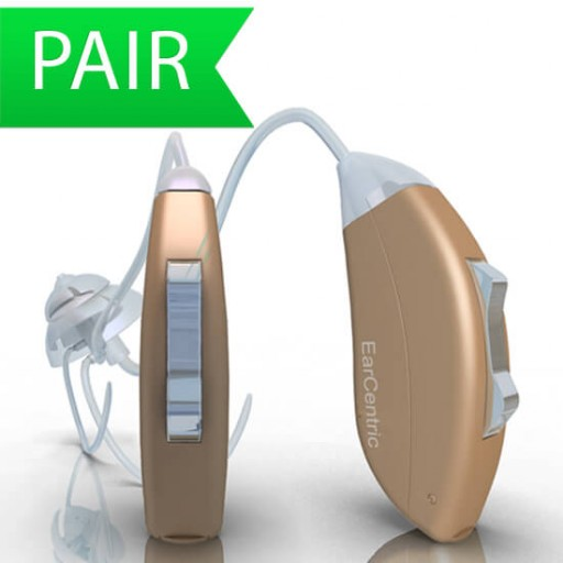 Behind the ear Hearing Aid online hearing price EarCentric - Pair