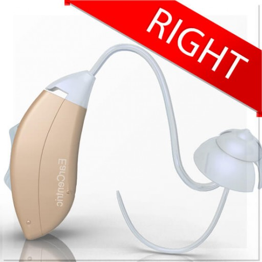 EarCentric  mini BTE Hearing Aid with noise cancellation listening devices - Right Ear - Beige