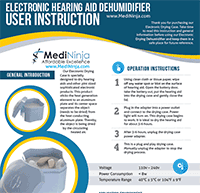 electronic dehumidifiers user manual