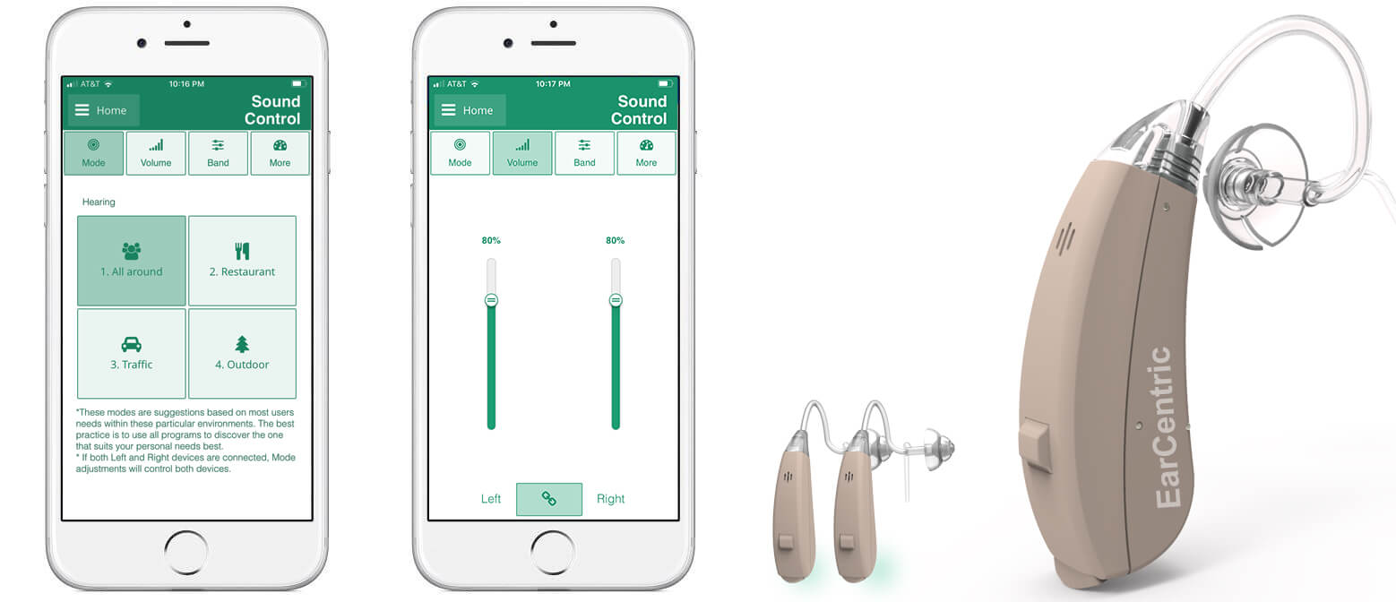 Wireless bluetooth hearing aids